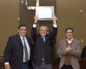 "Vereador Marcos Roberto ""Tetinha',Deputado Romanelli e Prefeito Haggi Neto."